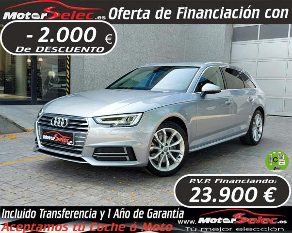 Audi A4 Avant ocasión segunda mano 2018 Gasolina por 25.900€ en Valencia