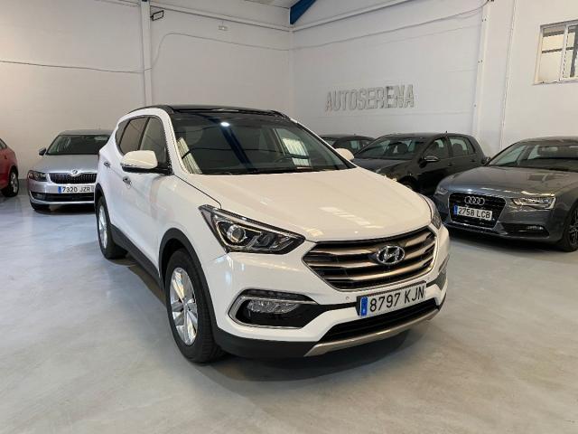 Hyundai Santa Fe ocasión segunda mano 2018 Diésel por 24.400€ en Badajoz